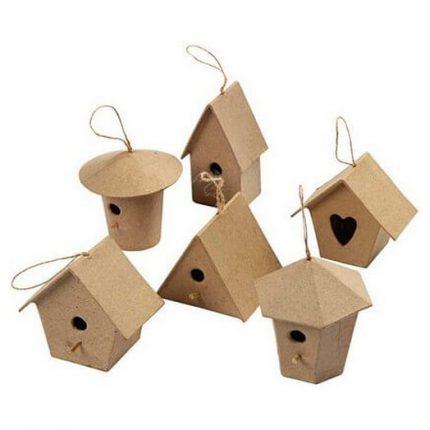 Mini Bird Houses, 7 cm, 6 τεμ.