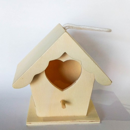 Φωλιά πουλιού ξύλινη, 9x9x6cm