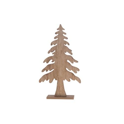Ξύλινο δέντρο με βάση natural/white, 24,5x6x47cm