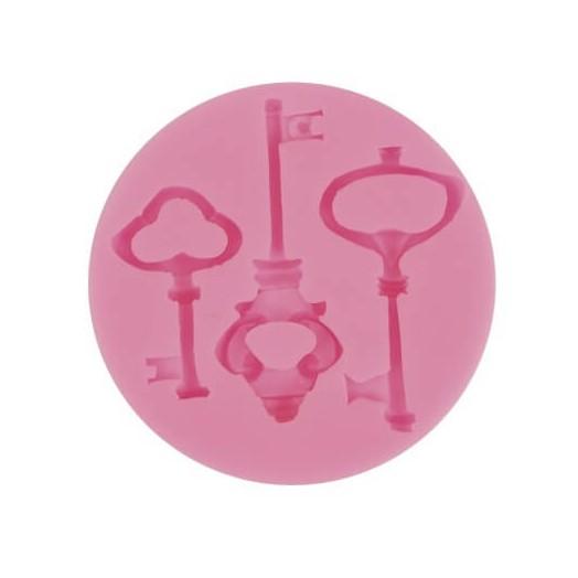 Καλούπι σιλικόνης κλειδιά 7.2x7.2 x 1cm