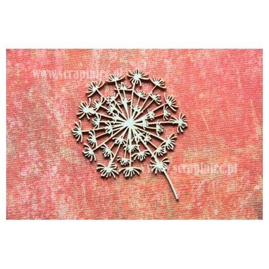 """Διακοσμητικά Chipboard Λουλούδι """"κλέφτης"""", 5,5x6,5 cm"""