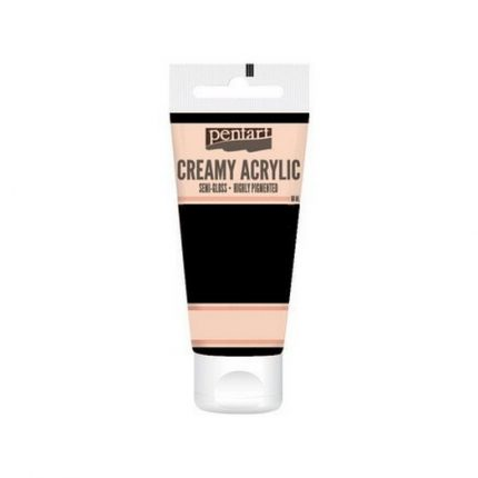 Χρώμα ακρυλικό Creamy Semi-Gloss 60ml Pentart - Black