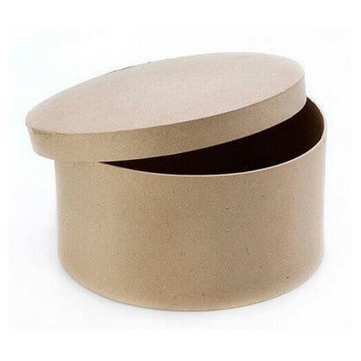 Κουτί καπελιέρα στρογγυλό κράφτ 20xY15cm