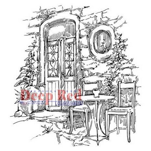 Deep Red Cling Stamp - Dining Alfresco - 7,70x7,70cm