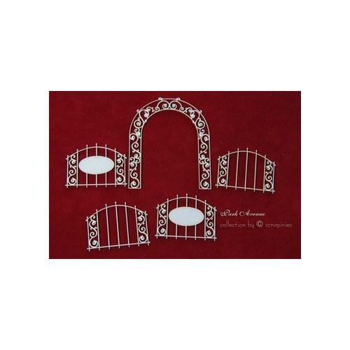 Διακοσμητικά Chipboard Πόρτες,7x8 & 14x14 cm, σετ 4τεμ