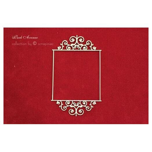 Διακοσμητικά Chipboard Ταμπέλα vintage, 7,5x13 cm