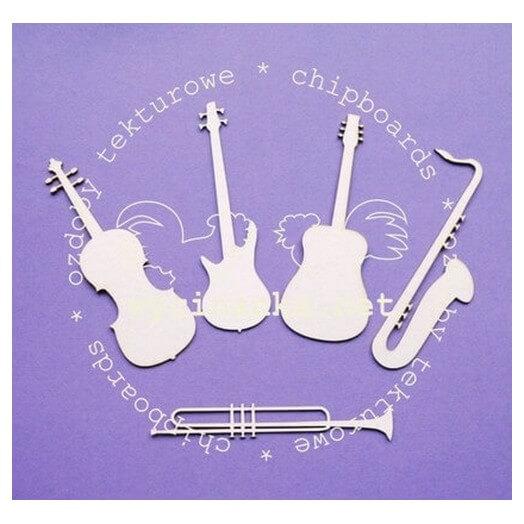 Chipboard Μουσικά Όργανα,10 cm ,5 τεμ.