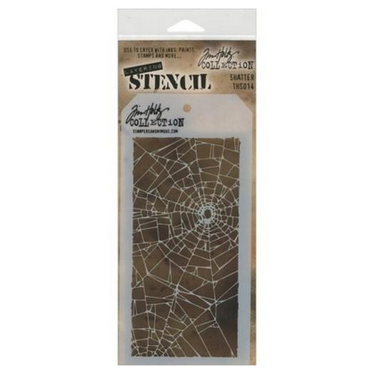 Tim Holtz Layered Stencil, Shatter 18x9,5cm