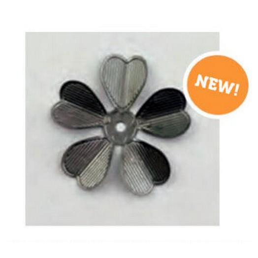 Metal trinkets flowers silver 32mm - σετ 10 τεμ.