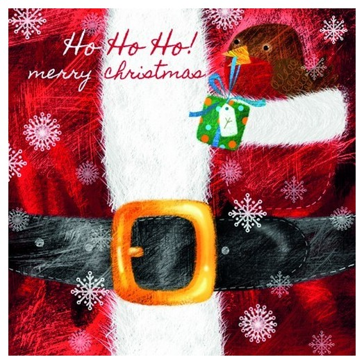 Χαρτοπετσέτα για Decoupage Ti-flair Robin sitting in Santas Coat Pocket, 1τεμ.