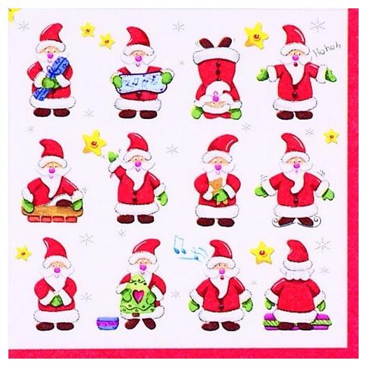 Χαρτοπετσέτα για Decoupage Ti-flair Funny Santas, 1τεμ.
