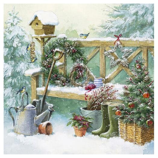 Χαρτοπετσέτα για Decoupage Ti-flair Winter Gardening, 1τεμ.