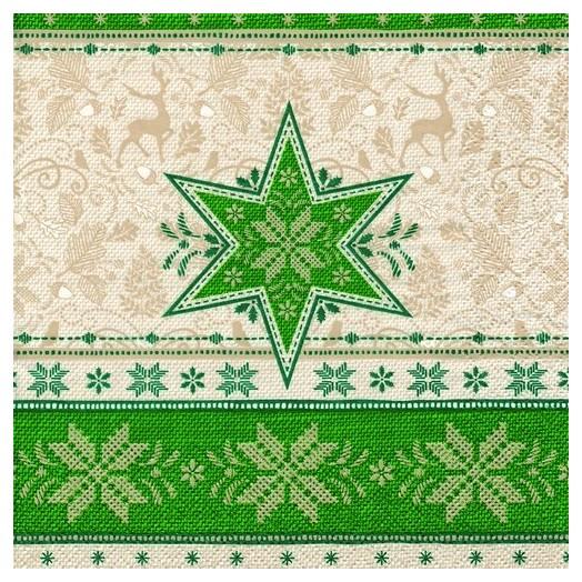Χαρτοπετσέτα για Decoupage Ti-flair Hivernale green, 1τεμ.