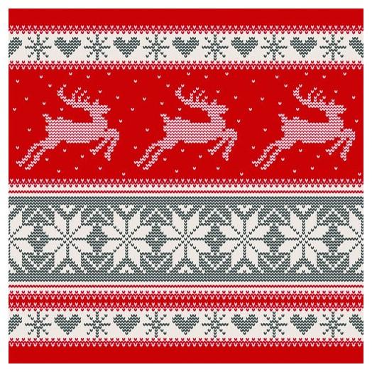 Χαρτοπετσέτα για Decoupage Ti-flair Nordic Knitting, 1τεμ.