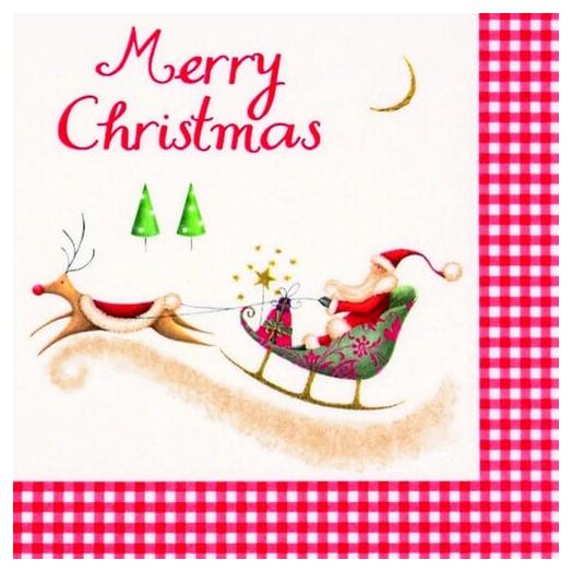 Χαρτοπετσέτα για Decoupage Ti-flair NMerry Christmas with Santa, 1τεμ.