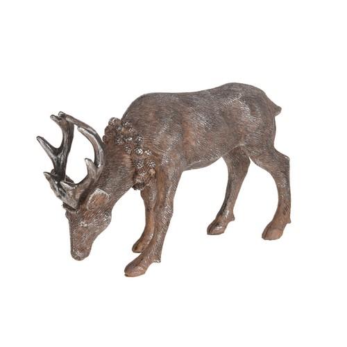 Ελάφι από ρητίνη, brown, 18x6x12cm