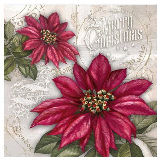 Χαρτοπετσέτα για Decoupage Ti-flair Flores de la Navidad red, 1τεμ.