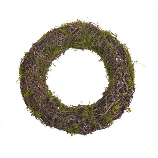 Στεφάνι φυσικό με moss, 30cm