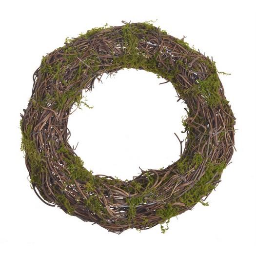 Στεφάνι φυσικό με moss, 35cm