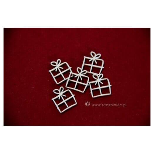 Διακοσμητικά Chipboard, gifts σετ 5τεμ.