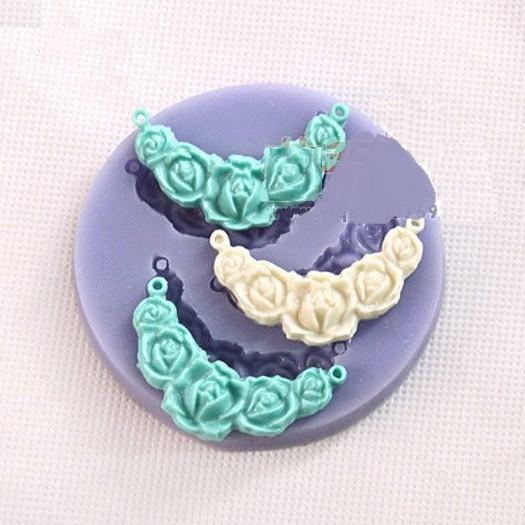 Καλούπι σιλικόνης, Necklace flower 72x9mm