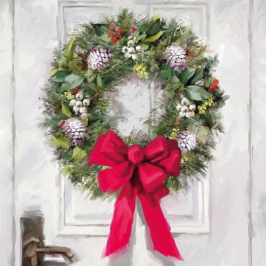 Χαρτοπετσέτα για Decoupage, White Wreath, 1τεμ.