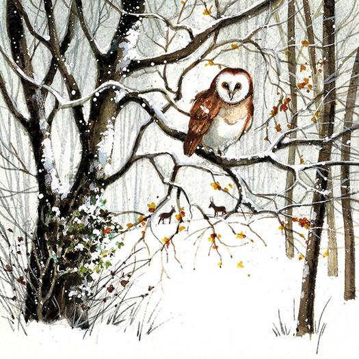 Χαρτοπετσέτα για Decoupage, Winter Owl, 1τεμ.