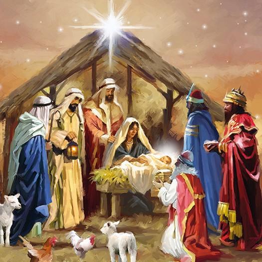 Χαρτοπετσέτα για Decoupage, Nativity Collage, 1τεμ.