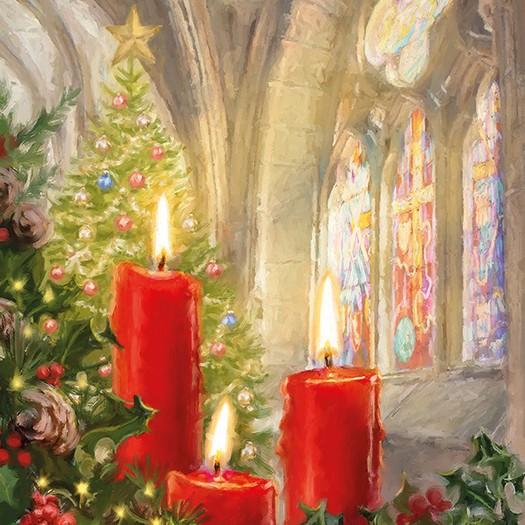 Χαρτοπετσέτα για Decoupage, Candles In Church, 1τεμ.