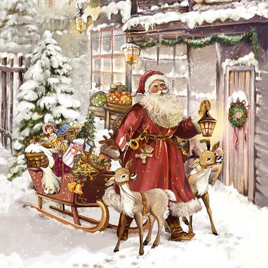 Χαρτοπετσέτα για Decoupage, Christmas Visit, 1τεμ.