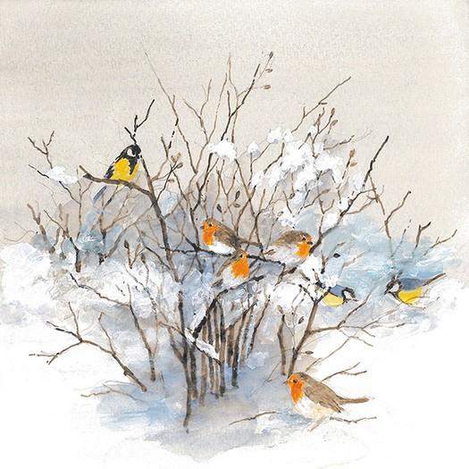 Χαρτοπετσέτα για Decoupage, Birds On Branches, 1τεμ.