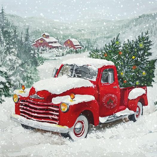 Χαρτοπετσέτα για Decoupage, Christmas Truck, 1τεμ.