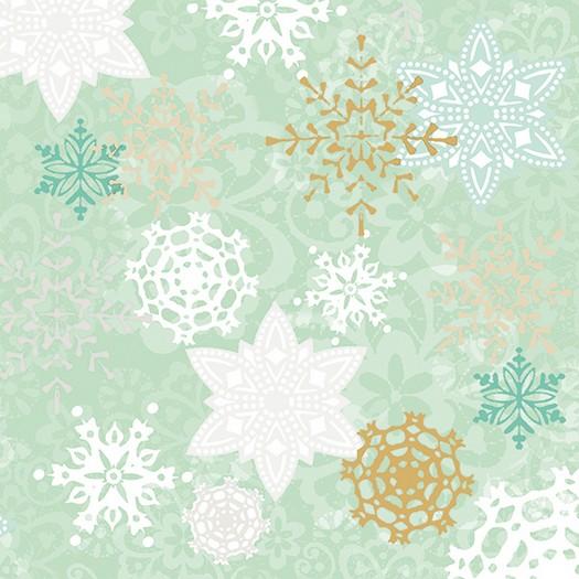 Χαρτοπετσέτα για Decoupage, Delicate Stamps Green, 1τεμ.