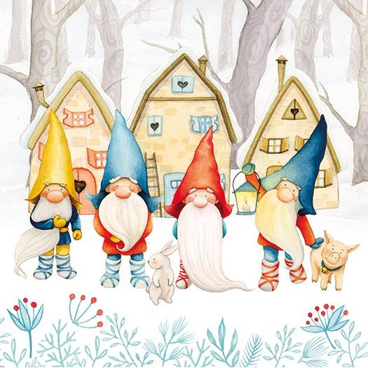 Χαρτοπετσέτα για Decoupage, Gnomes, 1τεμ.