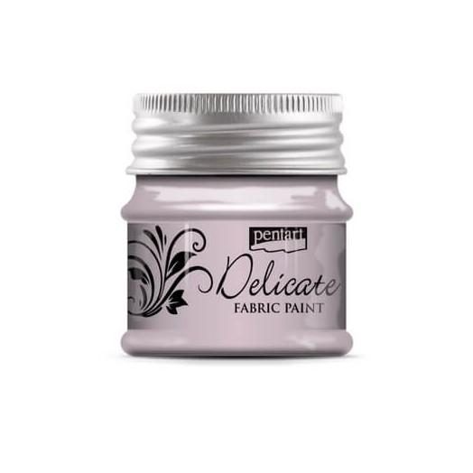 Delicate για ύφασμα Fabric paint metallic 50ml Pentart - Purlish Silver