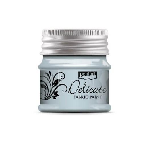 Delicate για ύφασμα Fabric paint metallic 50ml Pentart - Bluish Silver