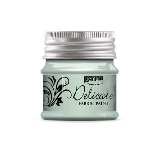 Delicate για ύφασμα Fabric paint metallic 50ml Pentart - Greenish Silver