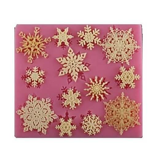 Καλούπι σιλικόνης, Snow Flakes 95x86x7mm