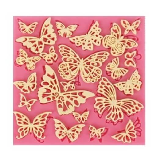 Καλούπι σιλικόνης, Butterflies 105x105x5mm