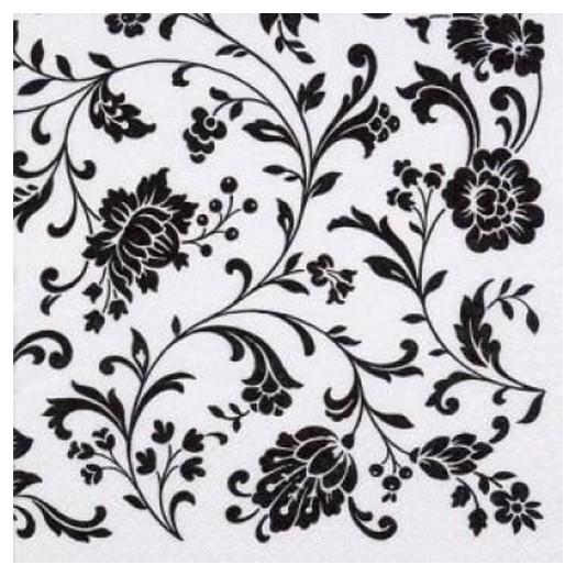 Χαρτοπετσέτα για Decoupage Arabesque White white-black, 1τεμ.