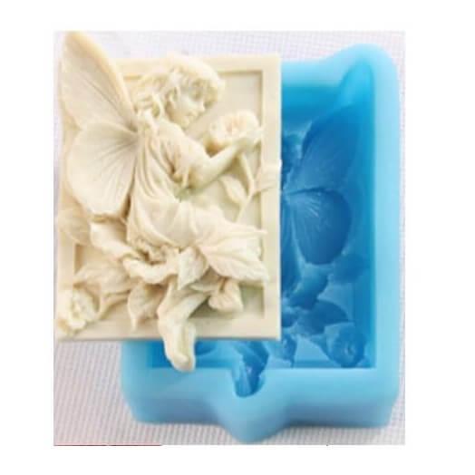 Καλούπι σιλικόνης και για σαπούνι, Angel 85x53x25mm