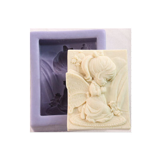 Καλούπι σιλικόνης για σαπούνι, girl 95x74x35mm