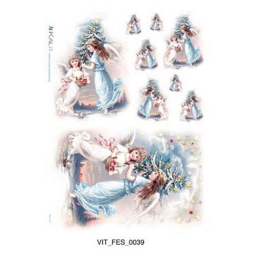 Ριζόχαρτο Χριστουγεννιάτικο PaperD 30x45cm - CHR0234