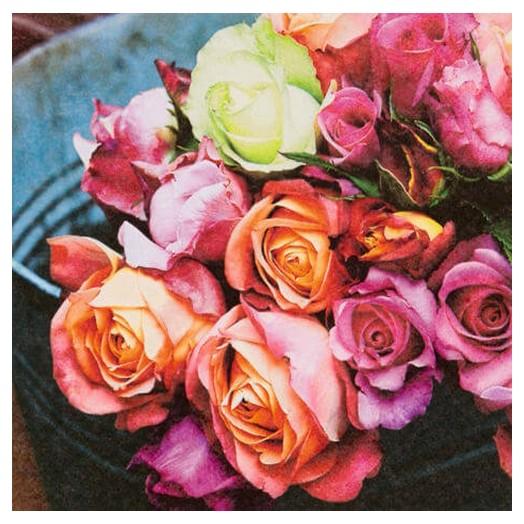 Χαρτοπετσέτα για Decoupage Ti-flair Les Roses sur Marche, 1τεμ.