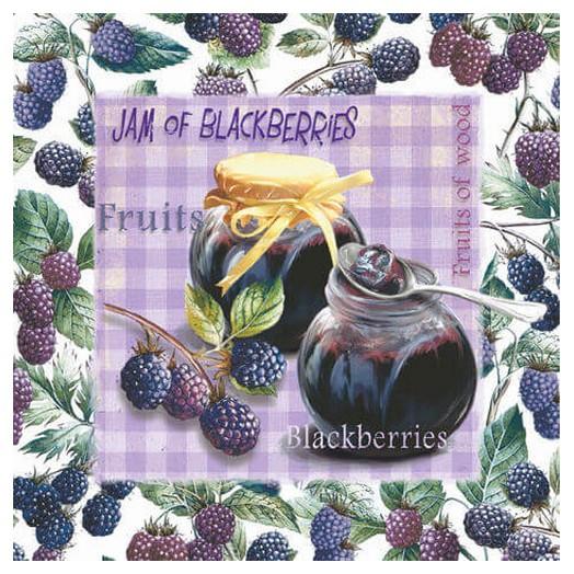 Χαρτοπετσέτα για Decoupage Ti-flair Jam of Blackberries, 1τεμ.