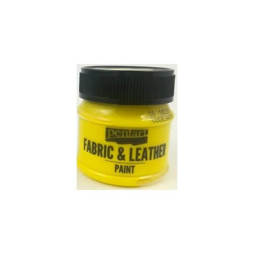 Fabric and leather paint 50 ml, Pentart, Yellow