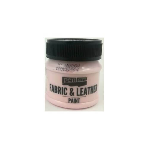Fabric and leather paint 50 ml, Pentart, Rose