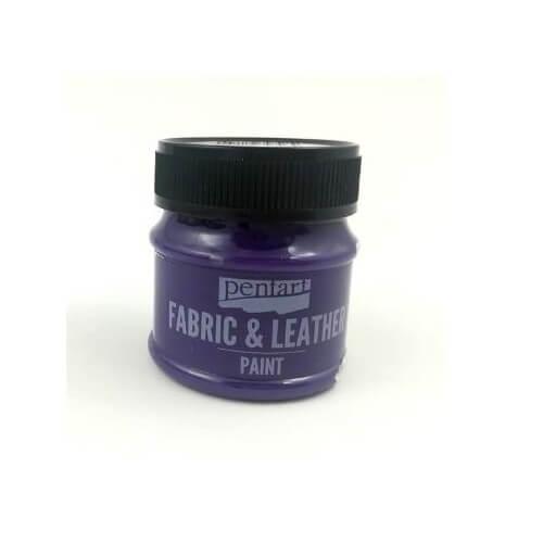 Fabric and leather paint 50 ml, Pentart, Purple