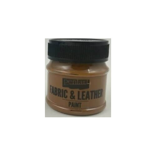 Fabric and leather paint 50 ml, Pentart, Dark Brown