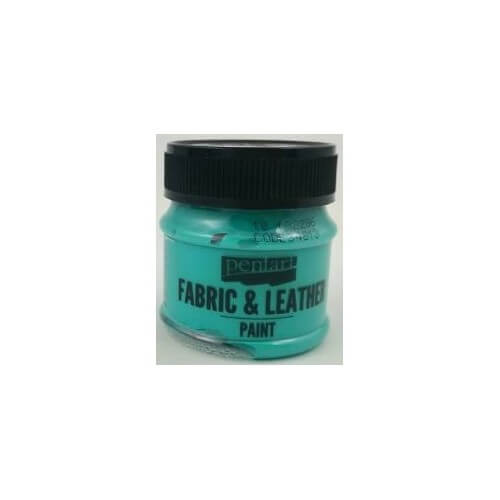 Fabric and leather paint 50 ml, Pentart, Turquoise Green